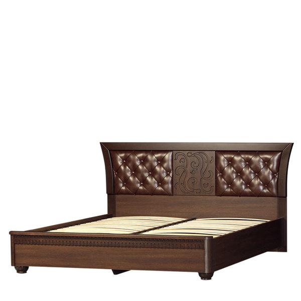 Кровать с ортопедическим основанием 1600 Лючия 198 дуб оксфорд серый