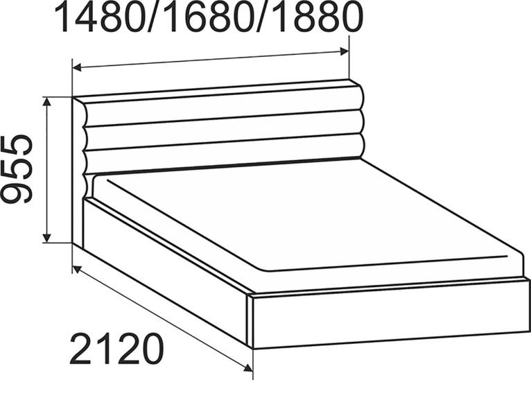 Кровать Альба с подъемным механизмом 1800*2000