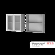 Шкаф настенный 2-дверный со стеклом 7В2 ТН