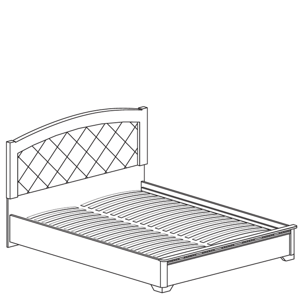 Кровать двойная Парма №805 - фото товара