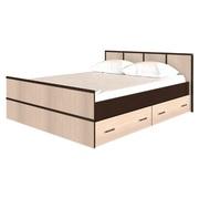 Кровать 1,4 м Сакура с 2-мя ящиками