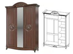 Шкаф 3 дверный Да Винчи СД-09