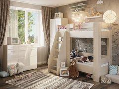 Детская спальня Симба дуб-белый глянец