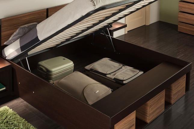 Кровать Гипер с пм полисандр