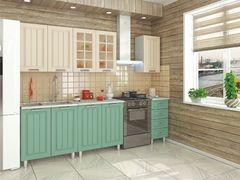 Кухня модульная Луксор бирюза-кремовый