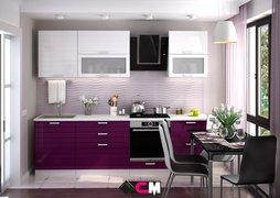 Модульная кухня Линда баклажан