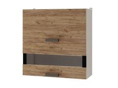 Шкаф настенный горизонтальный 2-дверный со стеклом 7В3 Крафт