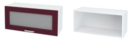Шкаф верхний горизонтальный со стеклом ШВГС 800 КР