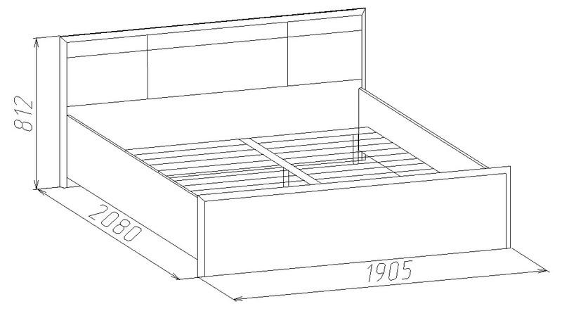 Кровать Амели с ортопедическим основанием 1800*2000