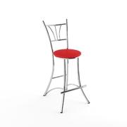 Барный стул Трилогия красный матовый-803м