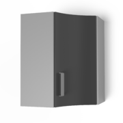 Угловой шкаф под сушку 550х550 угол радиусный УСР ЛБДП