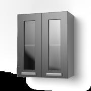 Навесной шкаф 600 со стеклом 6ВС ЛБДП