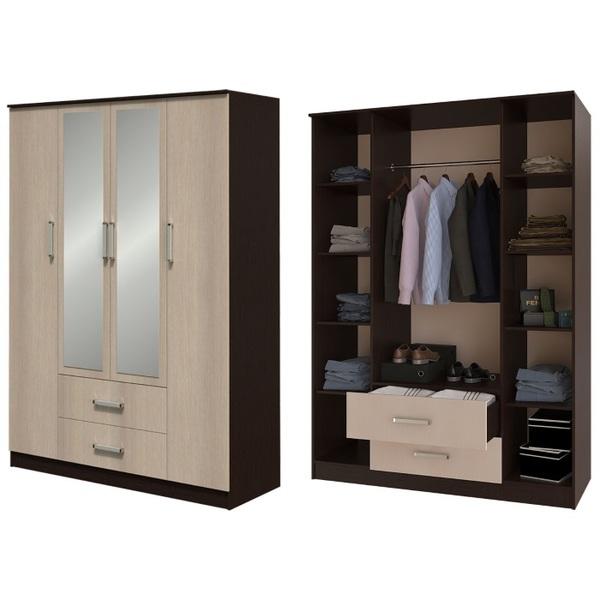 Шкаф 4-х створчатый Фиеста - фото товара