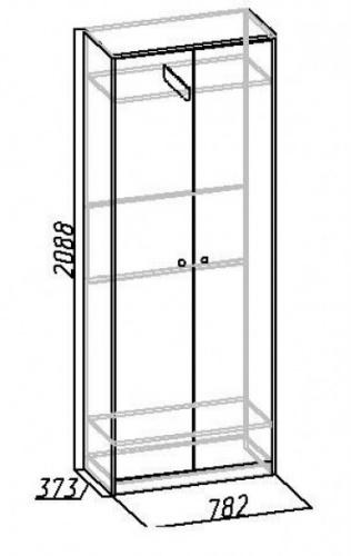 Шкаф для одежды Комфорт 6 - фото товара