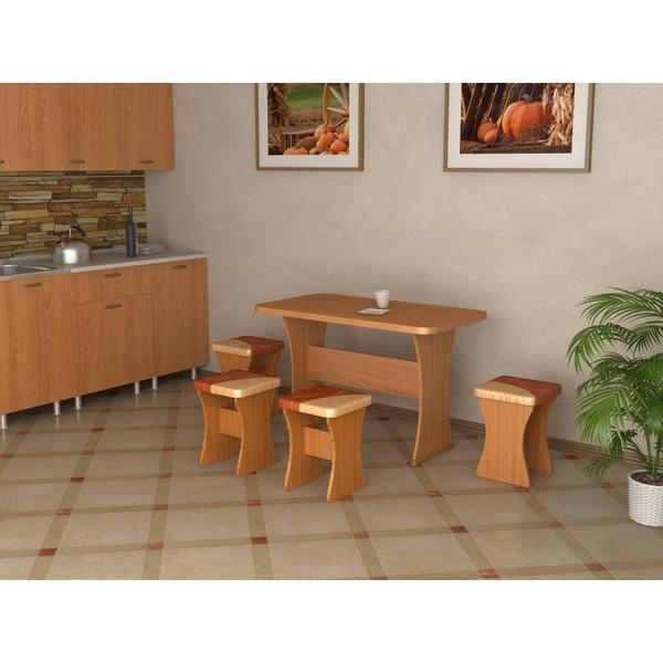 Кухонный стол и 4 табурета Титул - фото товара