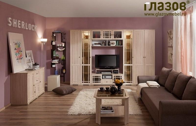 Модульная гостиная Шерлок дуб сонома - фото товара