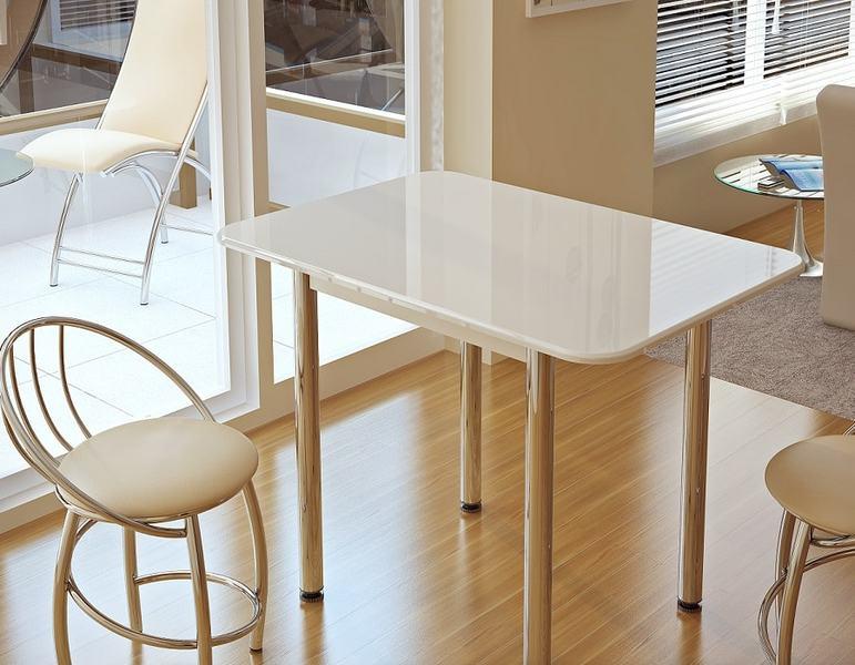 Стол обеденный белый глянец - фото товара