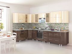 Кухня Танго модульная шоколад-ваниль